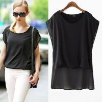 Baju Wanita Hitam Color Casual Size(S,M,L) Gaul/Model/Trendy 19375
