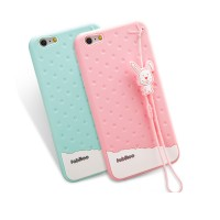 IPhone 5,5S,SE Fabitoo Cute Bunny Rubber Case