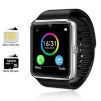 smartwatch gt-08/u10 full black suport sim card dan memory card