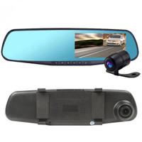 blackbox Kamera DVR mobil, Kaca spion, Dasbor cam, G - Sensor HD 1080P