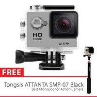sport cam wifi 12mp full HD 1080 free tongsis attanta smp-07