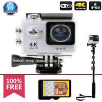 sportcam wifi 4k ultra HD 16mp 1080 full HD free tongsis yunteng 1188