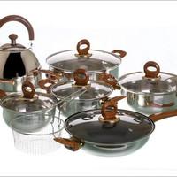 panci set vicenza body stainless good quality perlengkapan dapur kode