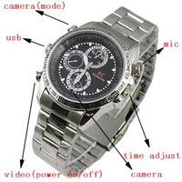 jam tangan pengintai spy cam 8GB bahan stainless