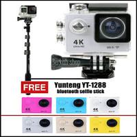 sportcam wifi 4k 16mp full hd 1080 plus tongsis bluetooth yunteng 1288