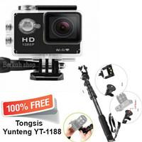 sportcam wifi 12mp 1080 full HD free tongsis yunteng 1188 promo