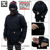 Jaket Parka DC Waterproof Black