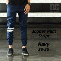 Chino Jogger Pants Stripe Navy