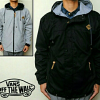 Jaket Vans Simple Black - Gray | Jaket Vans 2 in 1