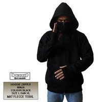 Jaket Zipper Ninja black