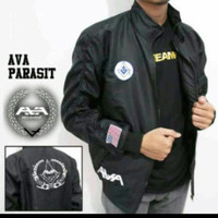 Jaket Parasut AVA Zipper Black