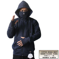 Jaket Zipper Ninja Navy