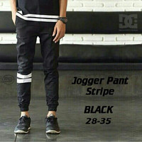 Chino Jogger Pants Stripe Black