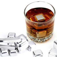8pcs Reusable Stainless Steel Ice Cube 8pcs / Es Batu Stainless 8pcs