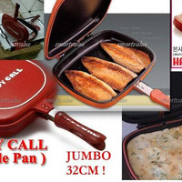 HappyCall Double Pan Jumbo Diameter 32 Cm Made In Korea Kulit Jeruk