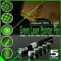 Laser hijau/ green laser pointer 5 mata