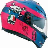 Helm AGV K3 SV Guy Martin Pink/Blue @KahazaShop