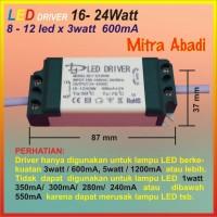 LED Driver 8-12x3 Watt 600 mA Casing Plastik