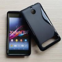 Silikon Case + screenguard Sony Xperia E1 / dual casing soft back
