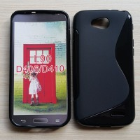 Silikon Case + screenguard LG L90 / dual casing soft back softcase