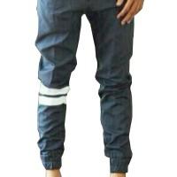 Jual Jogger Pants Grey - Strip Putih Murah