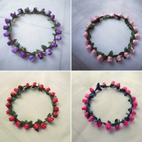 FLOWER CROWN/ Mahkota bunga ; BUNGA KUNCUP ;Gabriell accessories