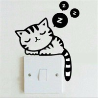 Stiker Tombol / Saklar Lampu gambar Cat (sticker)