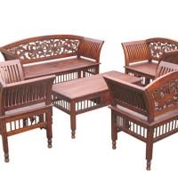 Set Kursi Meja Tamu Kartini Klasik Mebel Jati Cipta Karya Furniture