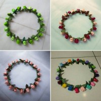 Jual FLOWER CROWN ; BUNGA KUNCUP ; Bando/accessories. Murah