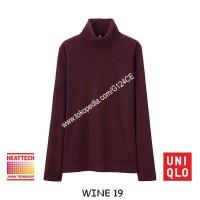 harga Kaos Uniqlo Heattech Fleece Turtle Neck Panjang 172281 Ungu Wine 19 Tokopedia.com