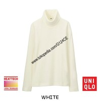 harga Kaos Uniqlo Heattech Fleece Turtle Neck Panjang 172281 Putih White Tokopedia.com