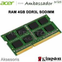 RAM 4GB DDR3L SODIMM - KINGSTON