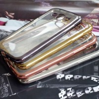 SOFTCASE LIST CHROME SAMSUNG GALAXY GRAND 2 TPU LUXURY SOFT CASE