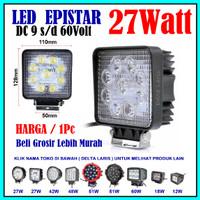 harga Lampu Sorot LED 27W 27 Watt 12 V 12 Volt 24 V 24 Volt Truk Alat Berat Tokopedia.com