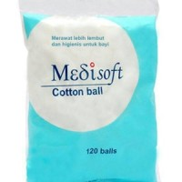 Medisoft Cotton Ball Kapas Bulat Bola Pembersih Bayi 120 pcs