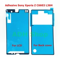 Adhesive Sony Xperia Z C6602 C6603 Front Back / Lem Depan Belakang