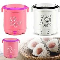 KE006 Mini Rice Cooker 1.2L Penanak Nasi Portable Travelling Mini Trav