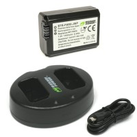 Wasabi Power Battery (1-Pack) and Dual USB Charger for Sony NP-FW50