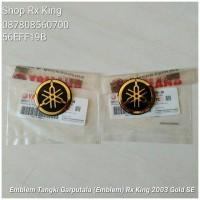 Emblem Tangki Garputala (Emblem 20TH) Rx King 2003 Gold SE, Ori New