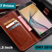 Flip Cover Samsung Galaxy J7 Prime, On7 2016 Leather Case Wallet Card