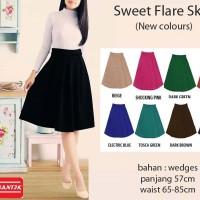 Jual Sweet Flare Skirt Rok Wedges Wanita 77528 Murah