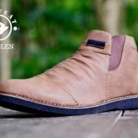 Sepatu Boots Pria Moofeat Kerut Wringkle
