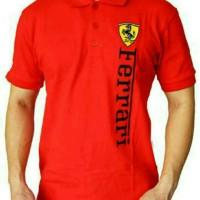 harga Polo Shirt T Shirt Tshirt Kaos Baju Kerah Pria Ferrari Tokopedia.com