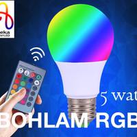 harga BOHLAM LAMPU LED RGB EKSKLUSIF 5 watt u kamar tidur Tokopedia.com