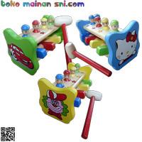 Mainan Kayu Edukatif Palu Badut untuk Edukasi Anak Usia 3-4 Tahun