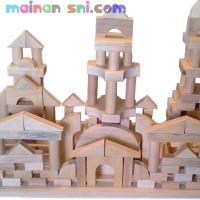 Mainan Kayu Edukatif Balok Umum 505 pcs u/ Edukasi Anak Usia 4-5 Tahun