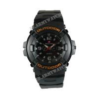 Jam Tangan Pria Swiss Army SAX 1014-01 - Rubber Hitam Dial Hitam