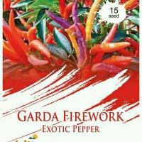 15 Benih CABE GARDA FIREWORK Exotic Pepper Maica Leaf