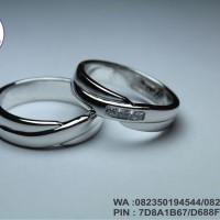 cincin nikah new platinum 25% + emas putih 14k