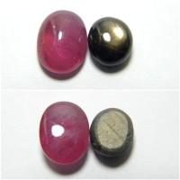 Obral Paket 2 Batu Natural Ruby & Black Golden Sapphire 00